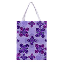 Deluxe Ornate Pattern Design in Blue and Fuchsia Colors Classic Tote Bag