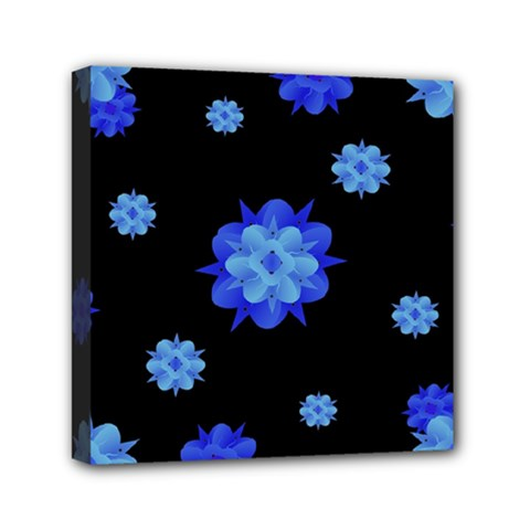 Floral Print Modern Style Pattern  Mini Canvas 6  X 6  (framed)
