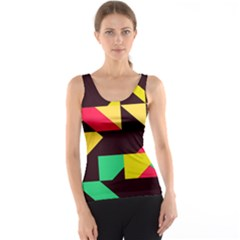 Shapes in retro colors 2 Tank Top