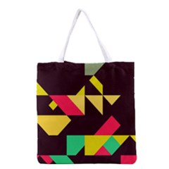 Shapes in retro colors 2 Grocery Tote Bag