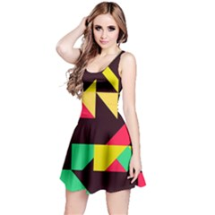Shapes in retro colors 2 Sleeveless Dress