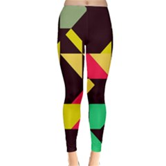 Shapes in retro colors 2 Winter Leggings