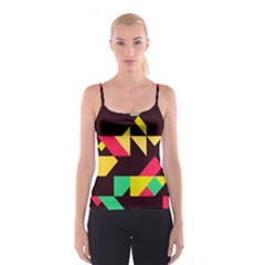 Shapes in retro colors 2 Spaghetti Strap Top