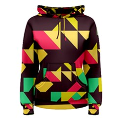 Shapes in retro colors 2 Women s Pullover Hoodie