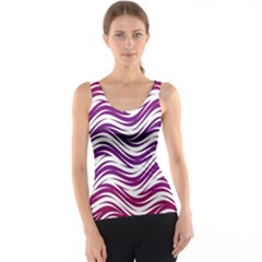 Purple waves pattern Tank Top
