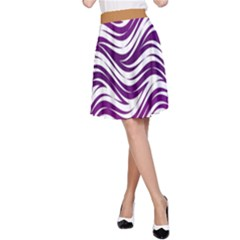 Purple waves pattern A-Line Skirt