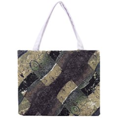 Geometric Abstract Grunge Prints in Cold Tones Tiny Tote Bag