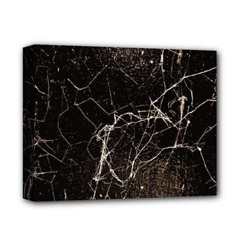 Spider Web Print Grunge Dark Texture Deluxe Canvas 14  X 11  (framed)
