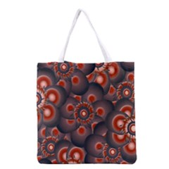 Modern Floral Decorative Pattern Print Grocery Tote Bag