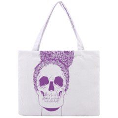 Purple Skull Bun Up Tiny Tote Bag