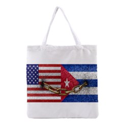 United States and Cuba Flags United Design Grocery Tote Bag