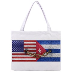 United States and Cuba Flags United Design Tiny Tote Bag