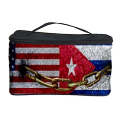 United States and Cuba Flags United Design Cosmetic Storage Case