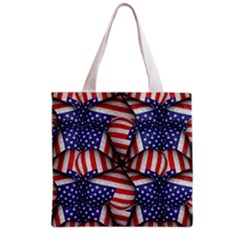 Modern Usa Flag Pattern Grocery Tote Bag