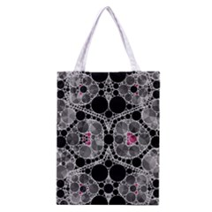 Bling Black Grey  Classic Tote Bag