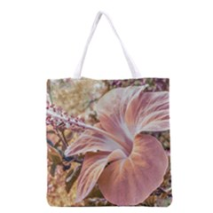 Fantasy Colors Hibiscus Flower Digital Photography Grocery Tote Bag