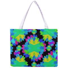 Multicolored Floral Print Geometric Modern Pattern Tiny Tote Bag