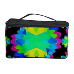 Multicolored Floral Print Geometric Modern Pattern Cosmetic Storage Case