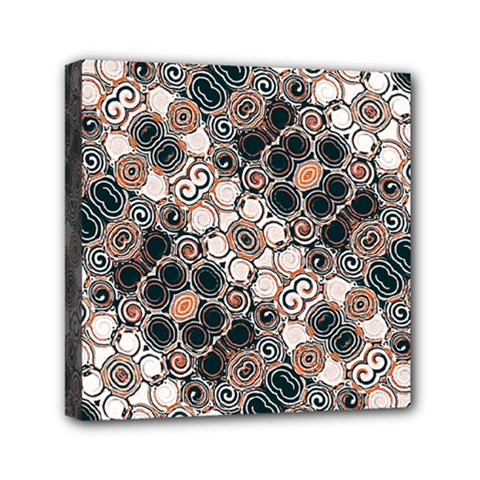 Modern Arabesque Pattern Print Mini Canvas 6  X 6  (framed)