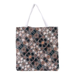 Modern Arabesque Pattern Print Grocery Tote Bag