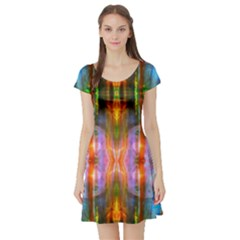 Melting Of Me By Saprillika Short Sleeved Skater Dress