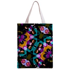Digital Futuristic Geometric Pattern Classic Tote Bag
