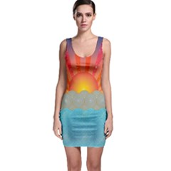Oriental Sunset Bodycon Dress