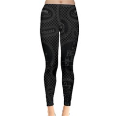 Black Princess Castle Leggings