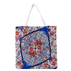 Floral Pattern Digital Collage Grocery Tote Bag