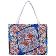 Floral Pattern Digital Collage Tiny Tote Bag
