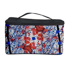 Floral Pattern Digital Collage Cosmetic Storage Case