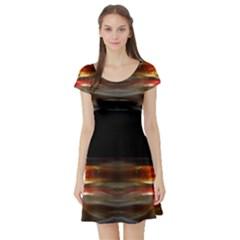Winters Melt By Saprillika Short Sleeved Skater Dress