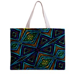 Tribal Style Colorful Geometric Pattern Tiny Tote Bag