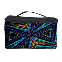 Tribal Style Colorful Geometric Pattern Cosmetic Storage Case