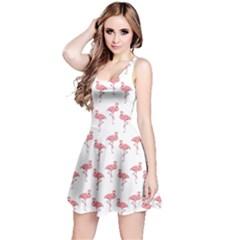 Pink Flamingo Pattern Sleeveless Dress