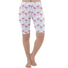 Pink Flamingo Pattern Cropped Leggings