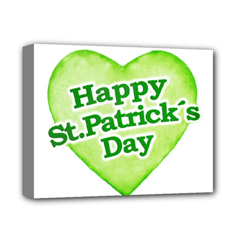 Happy St Patricks Day Design Deluxe Canvas 14  X 11  (framed)