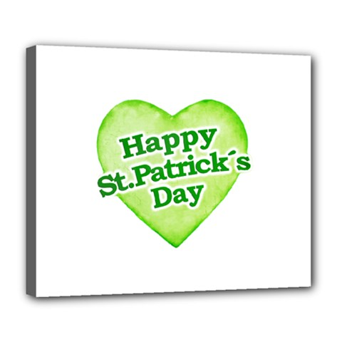 Happy St Patricks Day Design Deluxe Canvas 24  X 20  (framed)