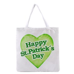 Happy St Patricks Day Design Grocery Tote Bag