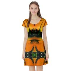 psalms 91 by saprillika Short Sleeved Skater Dress