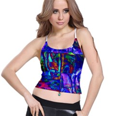Neon Purple Blue Pink Women s Spaghetti Strap Bra Top
