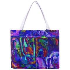 Neon Purple Blue Pink Tiny Tote Bag