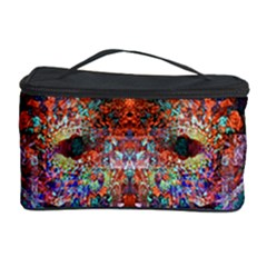 Colorful Abstract Modern Art Red Purple Cosmetic Storage Case