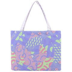 Girls Bright Pastel Summer Design Blue Pink Green Mini Tote Bag