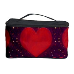 Galaxy Hearts Grunge Style Pattern Cosmetic Storage Case