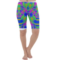 Neon Abstract Circles Cropped Leggings