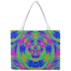 Neon Abstract Circles Tiny Tote Bag