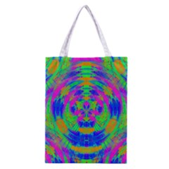 Neon Abstract Circles Classic Tote Bag