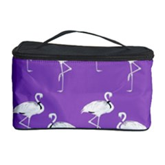 Flamingo White On Lavender Pattern Cosmetic Storage Case