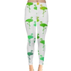 Flamingo Pattern Rainbow  Leggings